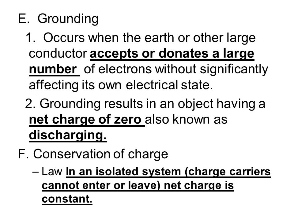 F. Conservation of charge