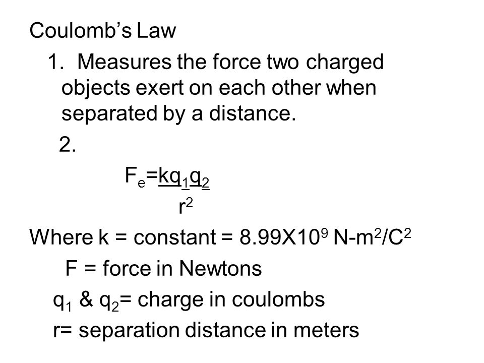 Coulomb's Law 1.