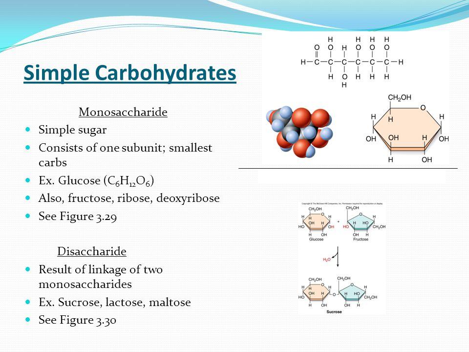 Simple Carbohydrates Monosaccharide Simple sugar