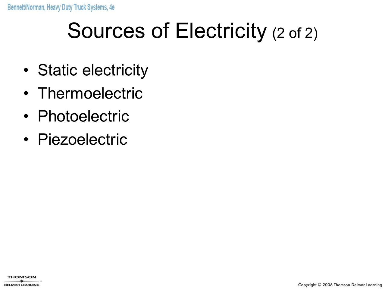 Sources of Electricity (2 of 2)