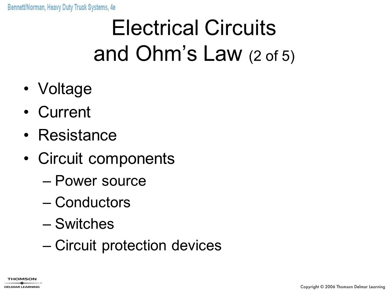 Electrical Circuits and Ohm's Law (2 of 5)