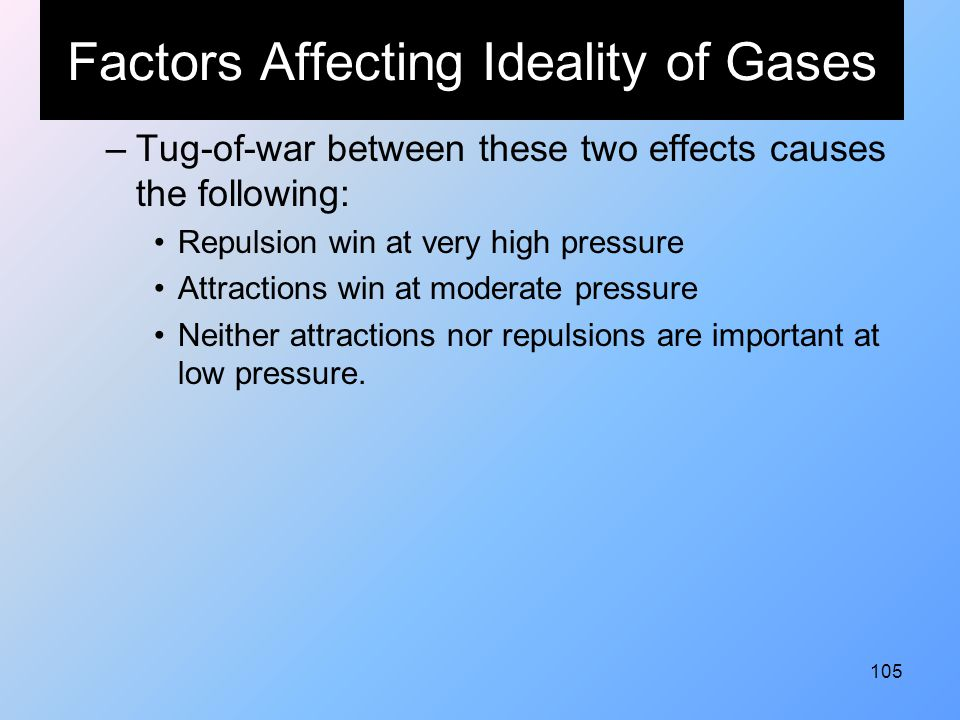 Factors Affecting Ideality of Gases
