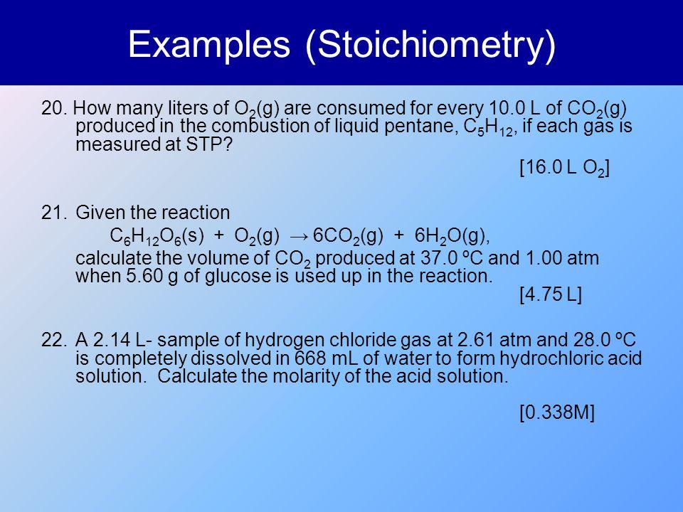 Examples (Stoichiometry)