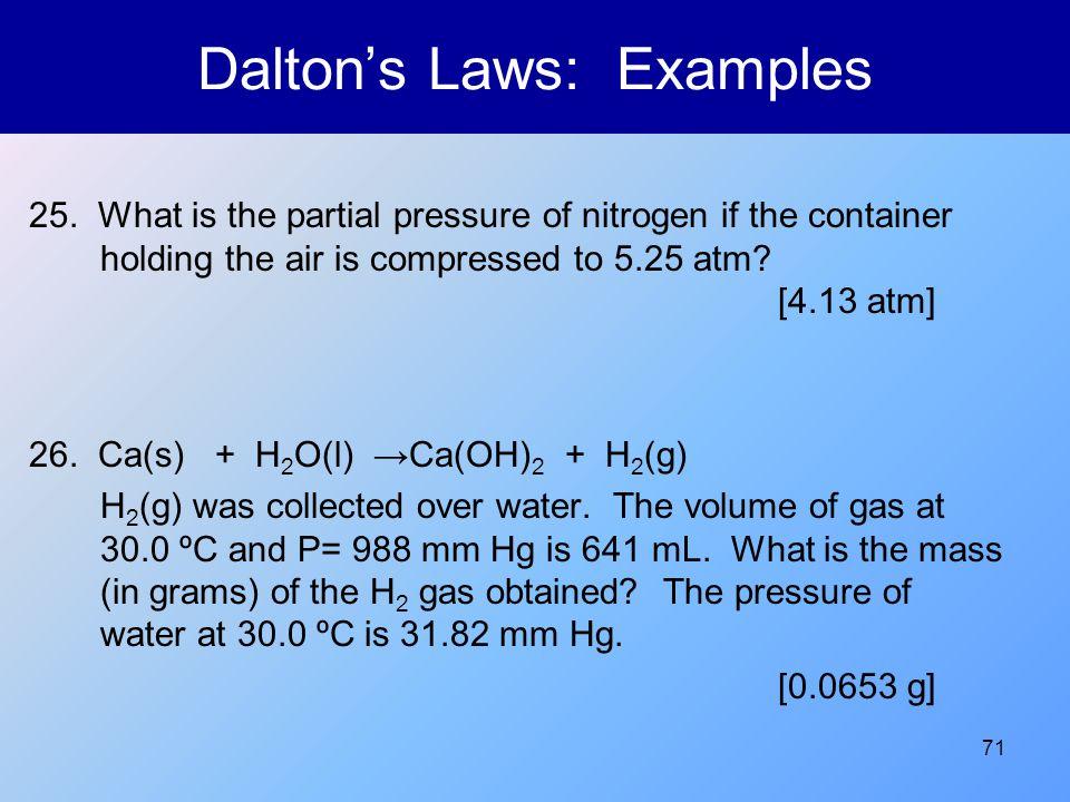 Dalton's Laws: Examples