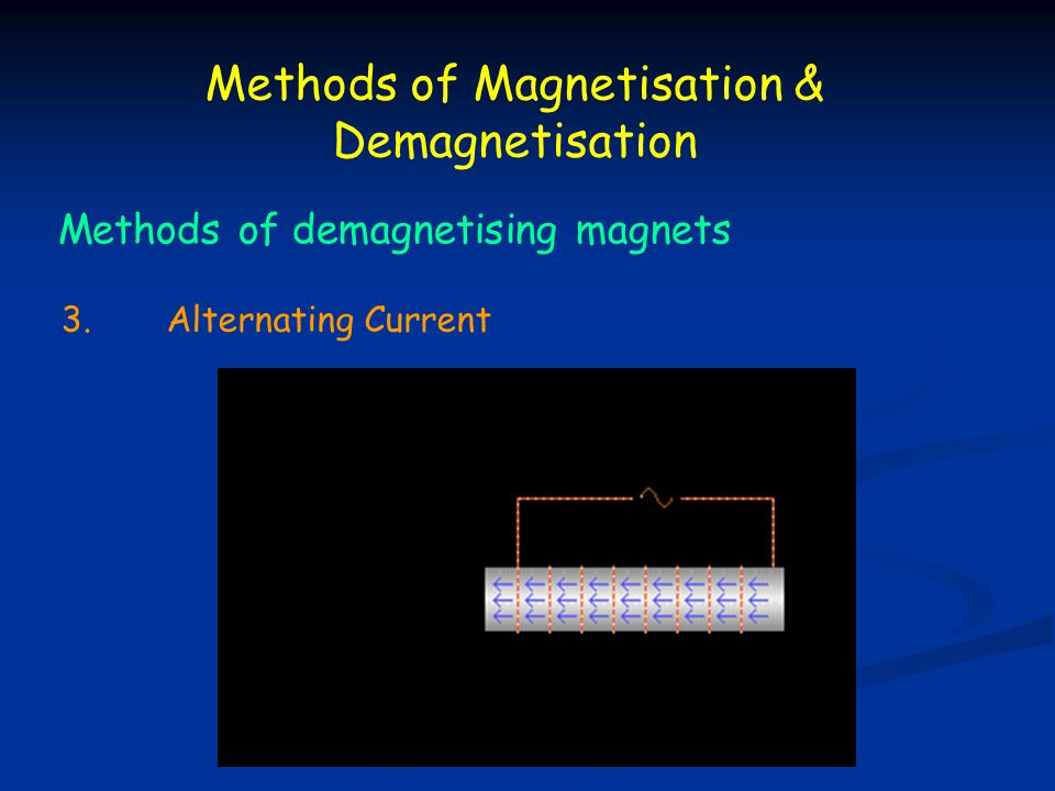 Methods of Magnetisation & Demagnetisation
