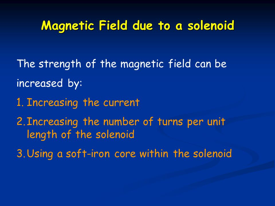Magnetic Field due to a solenoid