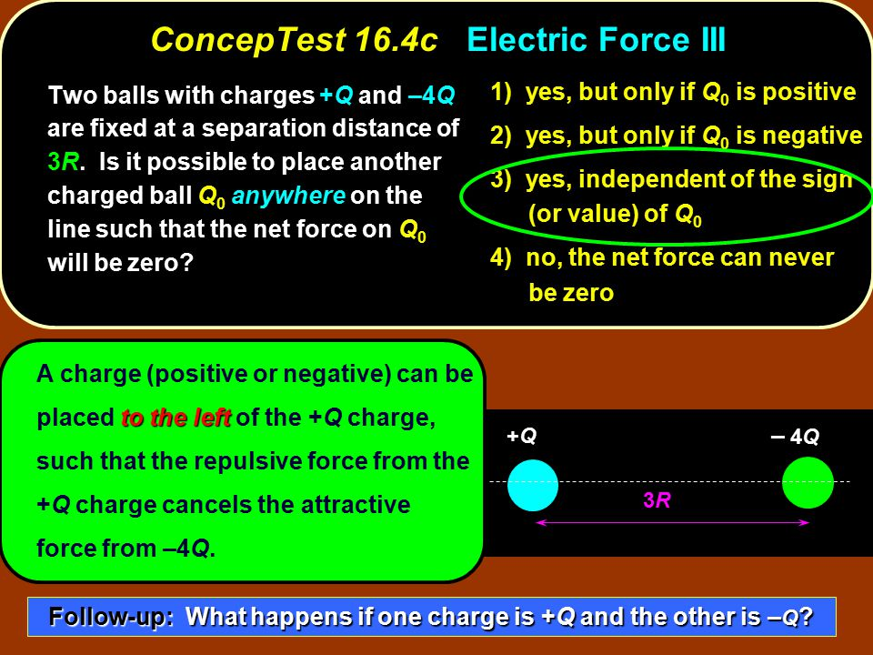 ConcepTest 16.4c Electric Force III