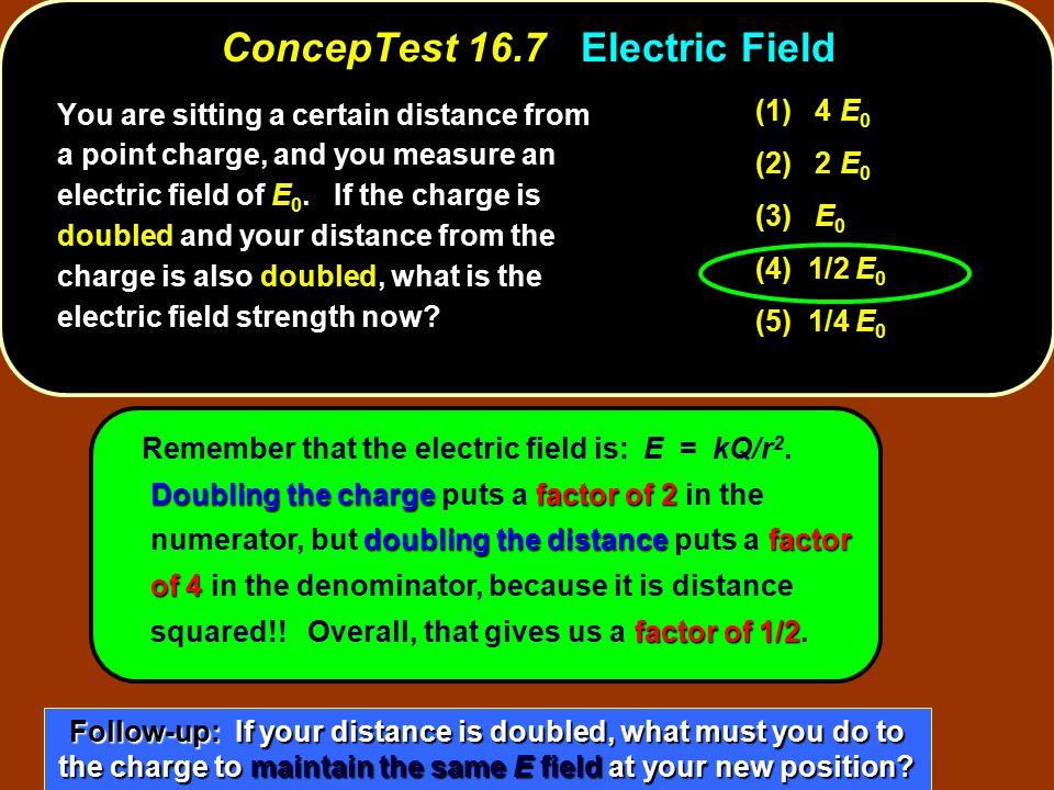 ConcepTest 16.7 Electric Field