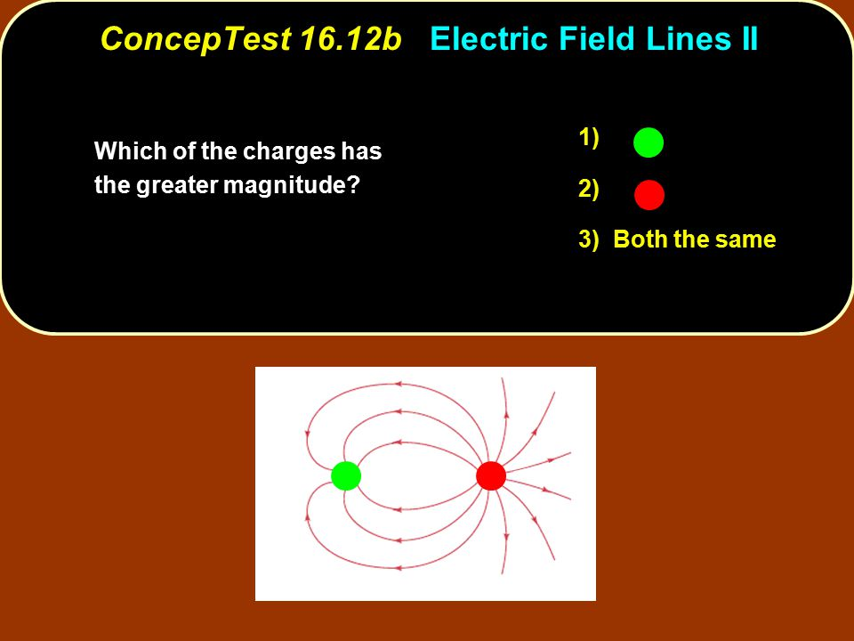 ConcepTest 16.12b Electric Field Lines II