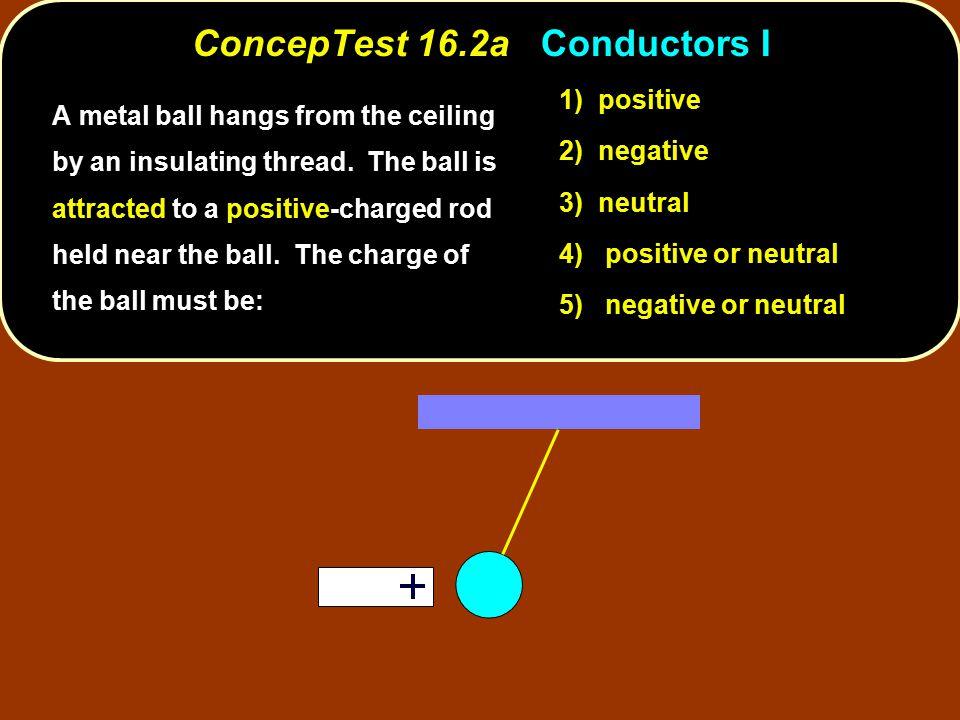 ConcepTest 16.2a Conductors I
