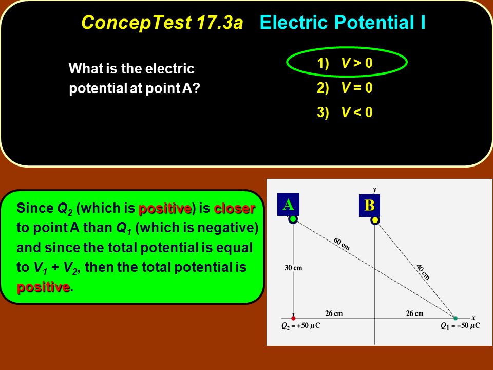 ConcepTest 17.3a Electric Potential I