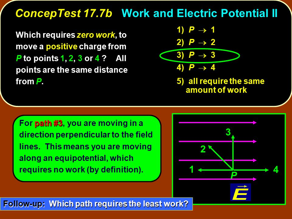 ConcepTest 17.7b Work and Electric Potential II