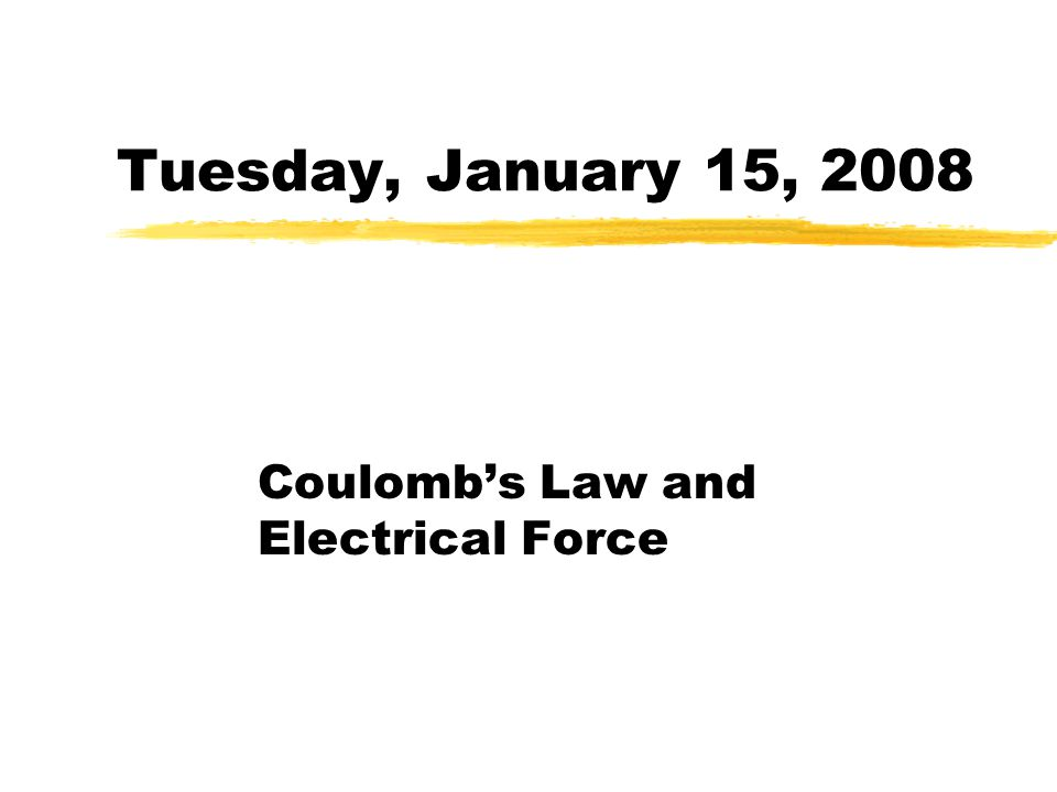 Coulomb's Law and Electrical Force