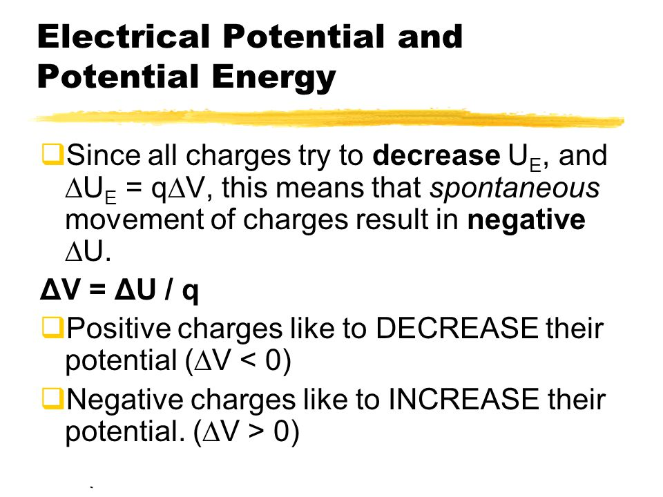 Electrical Potential and Potential Energy
