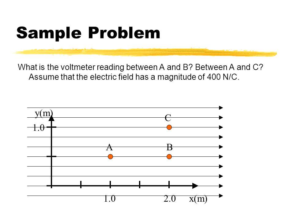 Sample Problem y(m) C 1.0 A B 1.0 2.0 x(m)