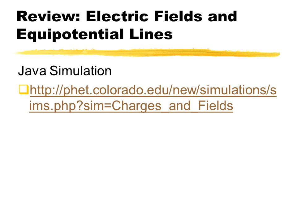 Review: Electric Fields and Equipotential Lines