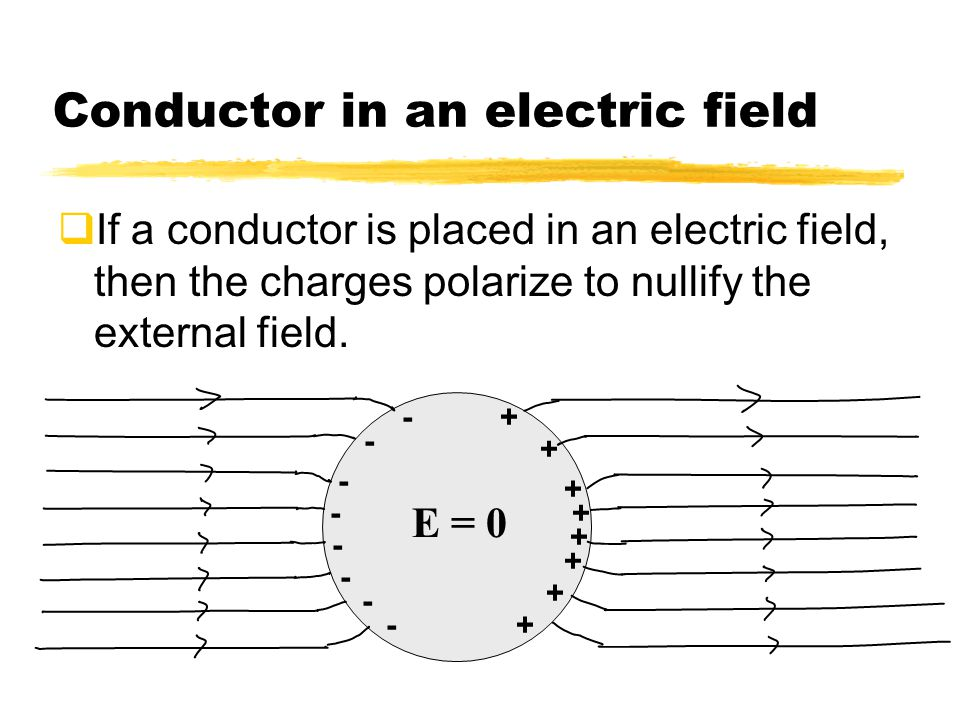 Conductor in an electric field