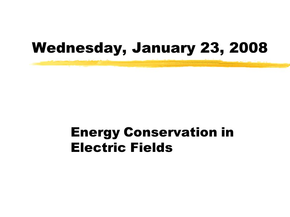Energy Conservation in Electric Fields