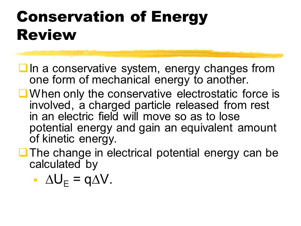 Conservation of Energy Review