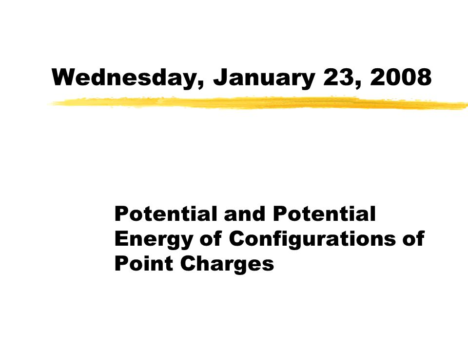 Potential and Potential Energy of Configurations of Point Charges