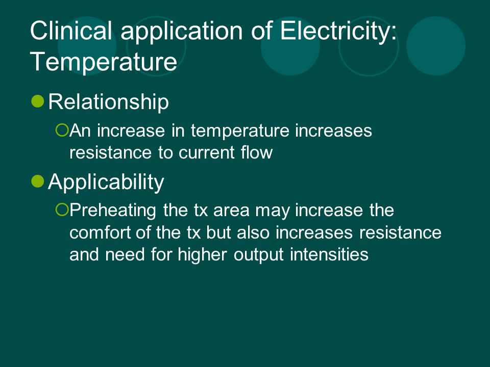 Clinical application of Electricity: Temperature