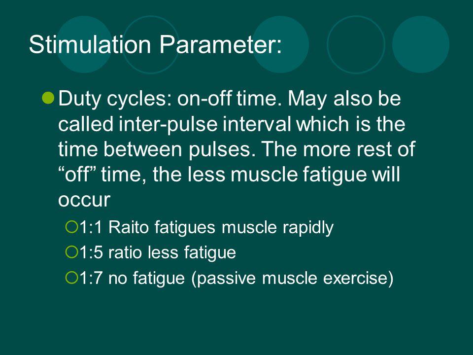 Stimulation Parameter: