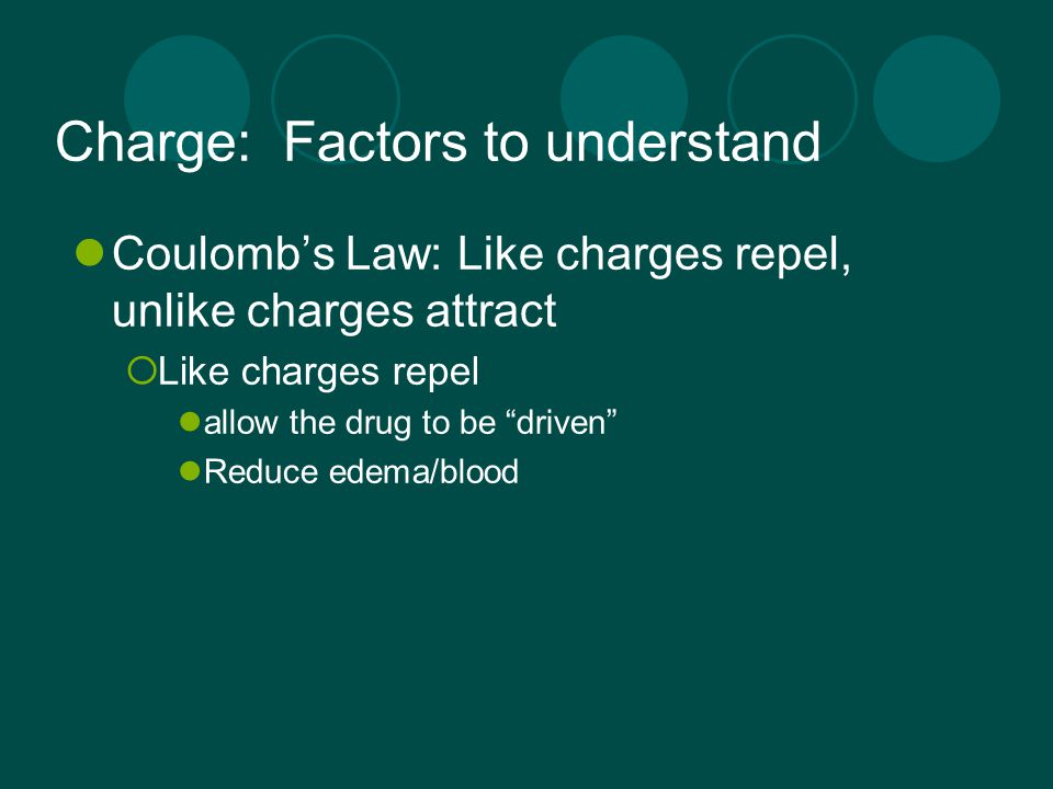 Charge: Factors to understand