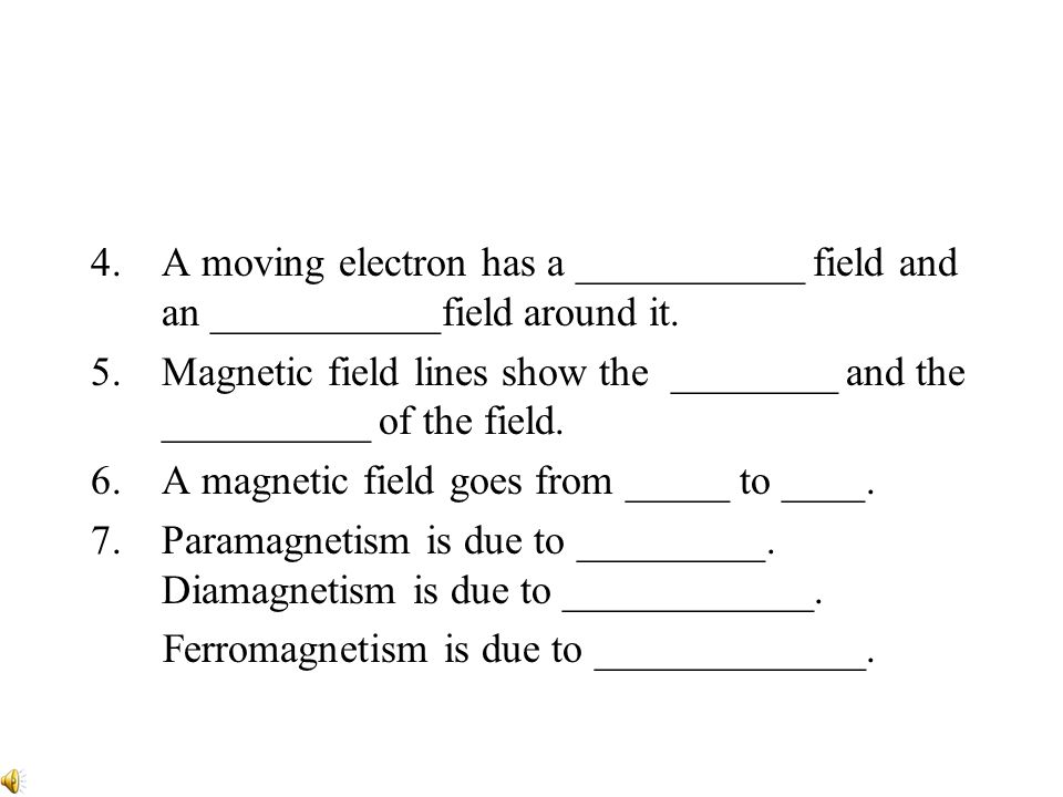 A moving electron has a ___________ field and an ___________field around it.