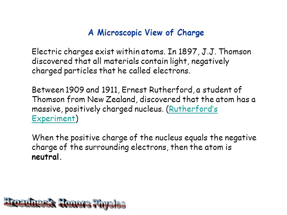 A Microscopic View of Charge