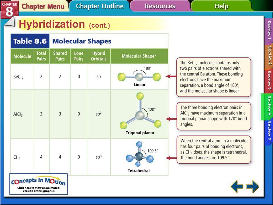 Hybridization (cont.)
