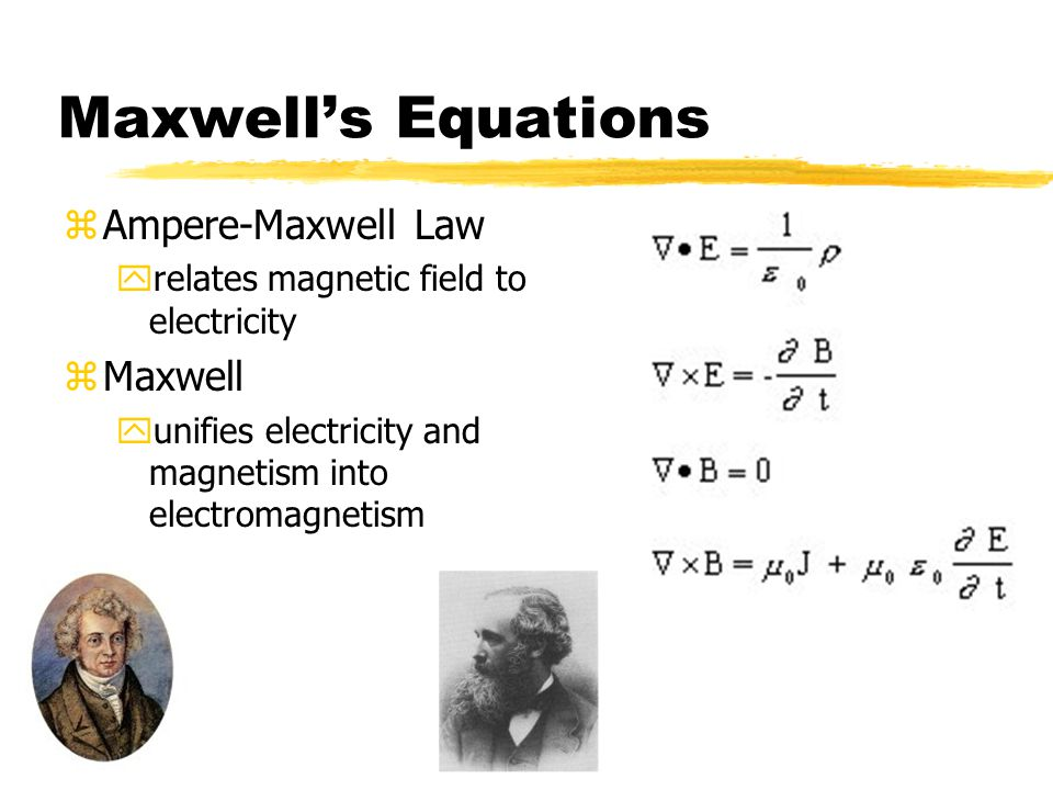Maxwell's Equations Ampere-Maxwell Law Maxwell