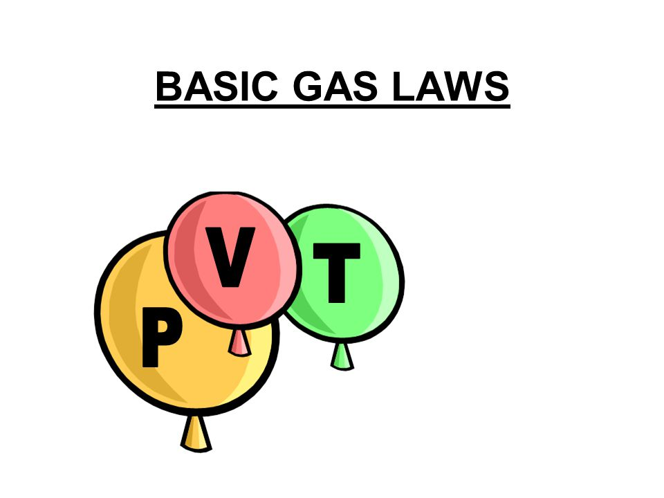 BASIC GAS LAWS P V T