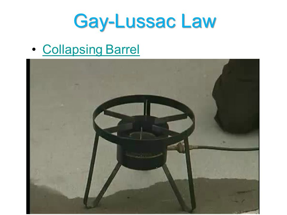 Gay-Lussac Law Collapsing Barrel
