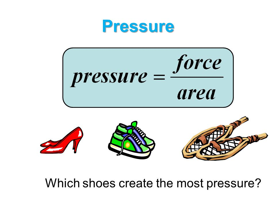 Pressure Which shoes create the most pressure