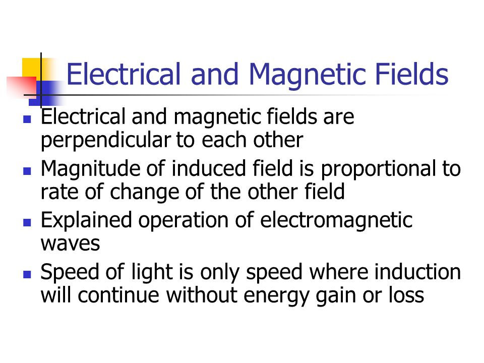 Electrical and Magnetic Fields
