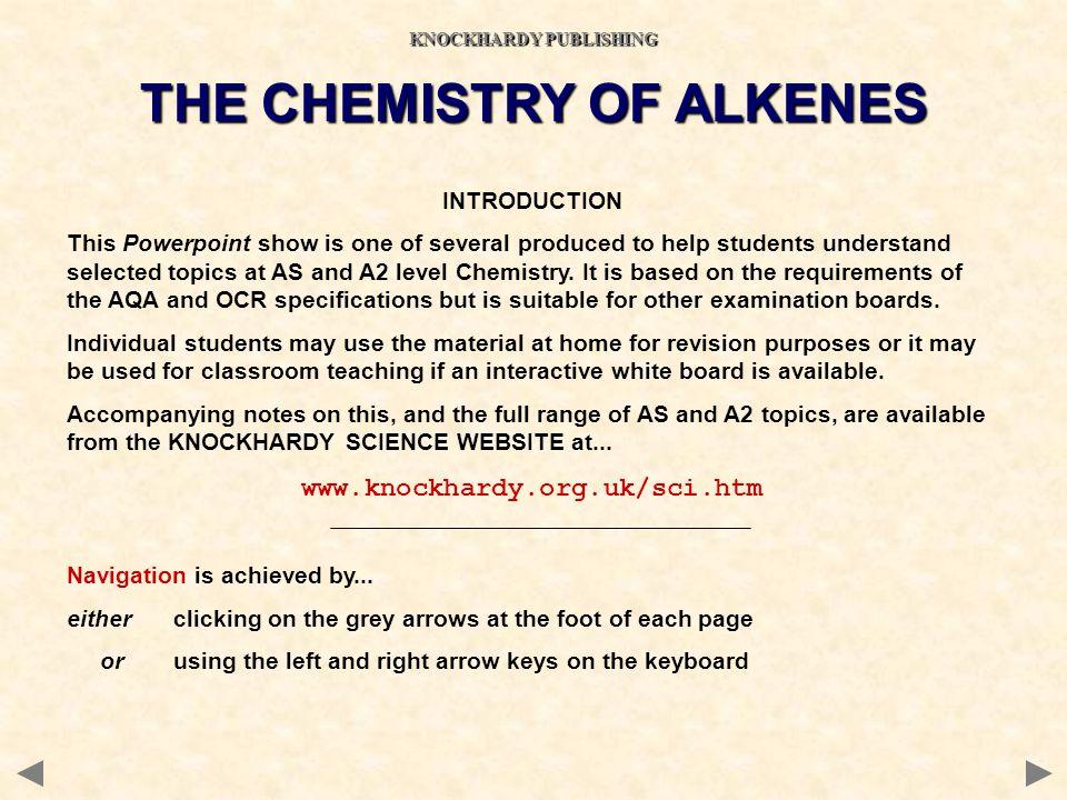 KNOCKHARDY PUBLISHING THE CHEMISTRY OF ALKENES