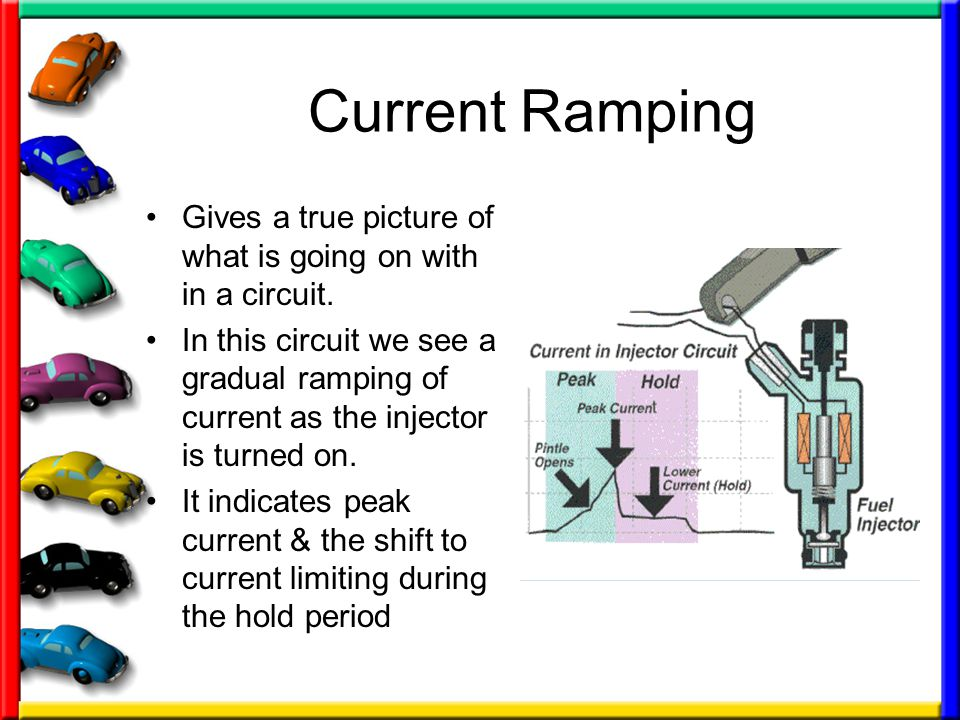Current Ramping Gives a true picture of what is going on with in a circuit.