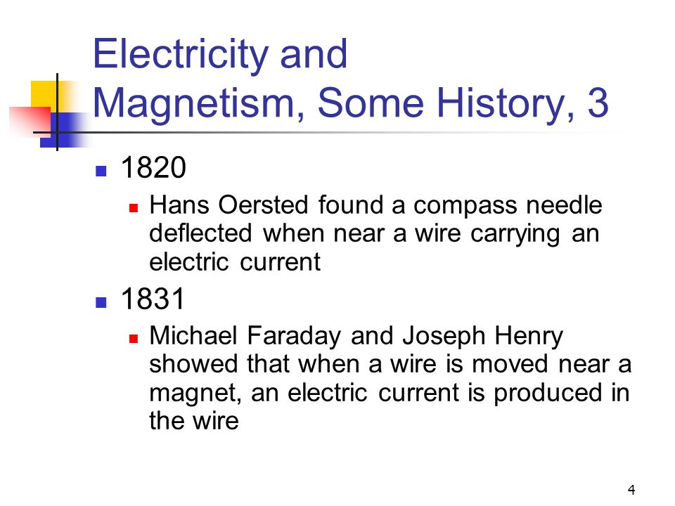 Electricity and Magnetism, Some History, 3