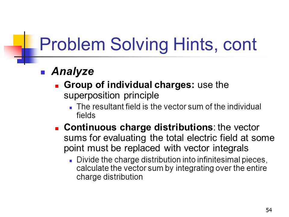 Problem Solving Hints, cont