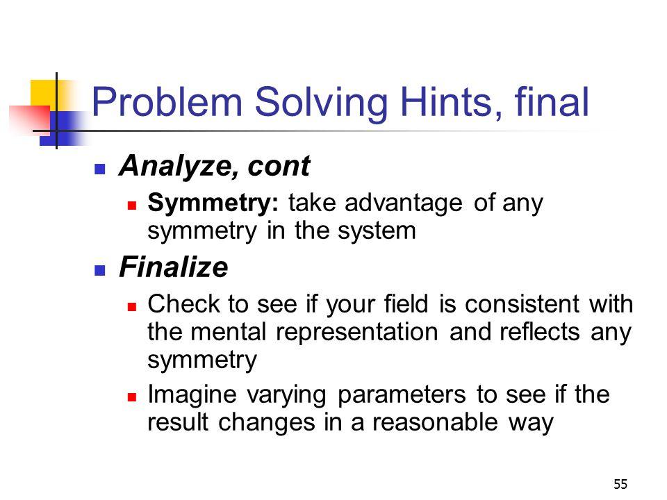 Problem Solving Hints, final