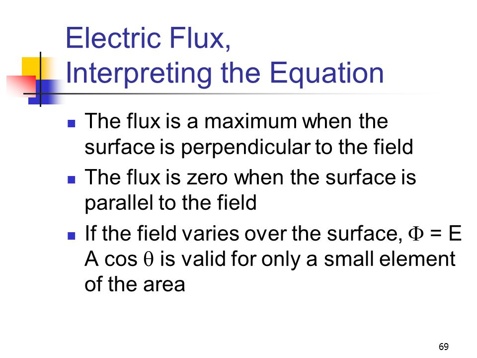 Electric Flux, Interpreting the Equation