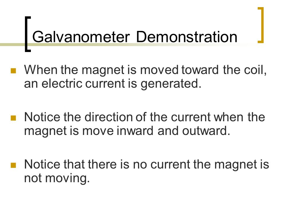 Galvanometer Demonstration