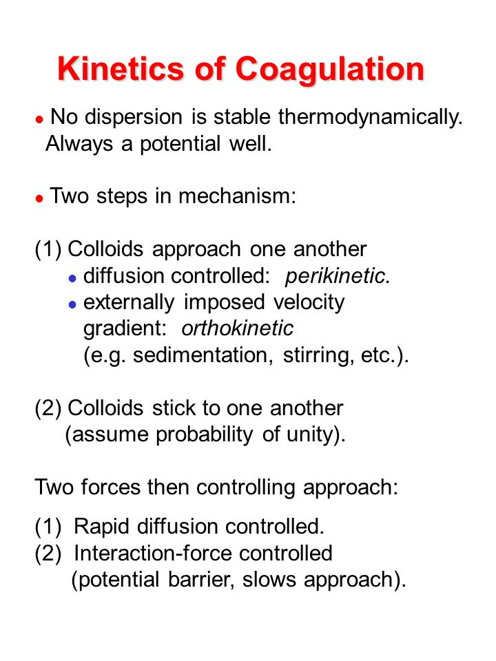 Kinetics of Coagulation