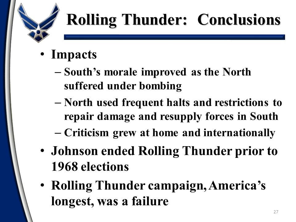 Rolling Thunder: Conclusions