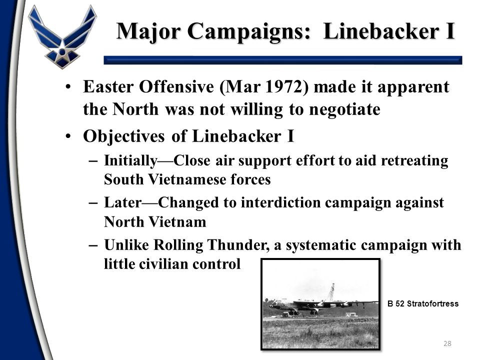 Major Campaigns: Linebacker I
