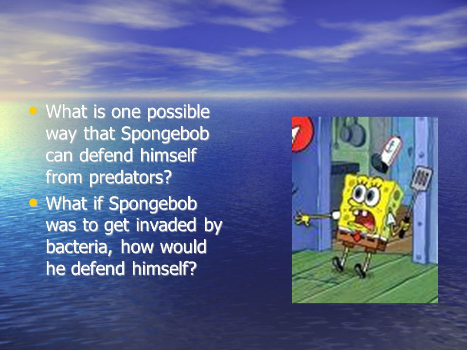 What is one possible way that Spongebob can defend himself from predators