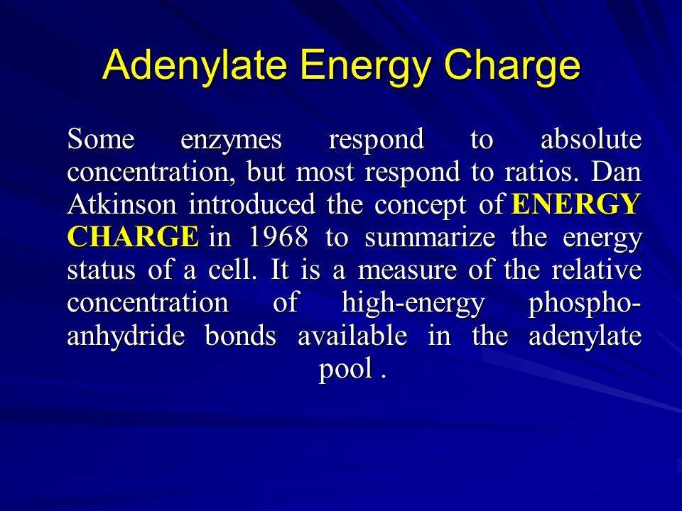 Adenylate Energy Charge