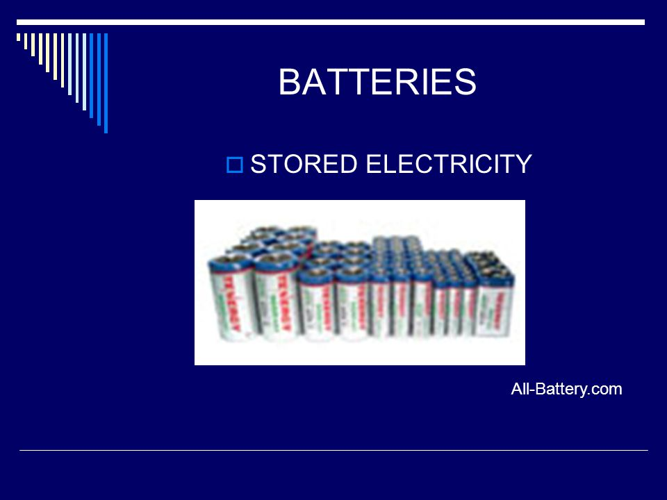 BATTERIES STORED ELECTRICITY All-Battery.com