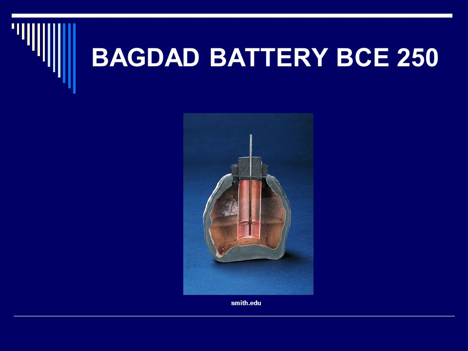 BAGDAD BATTERY BCE 250 smith.edu