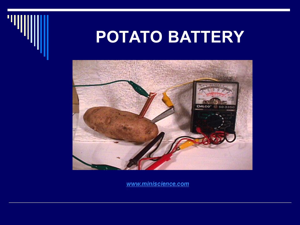 POTATO BATTERY www.miniscience.com